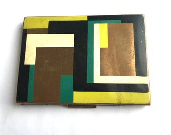 Mid Century Modern Metal Cigarette Case