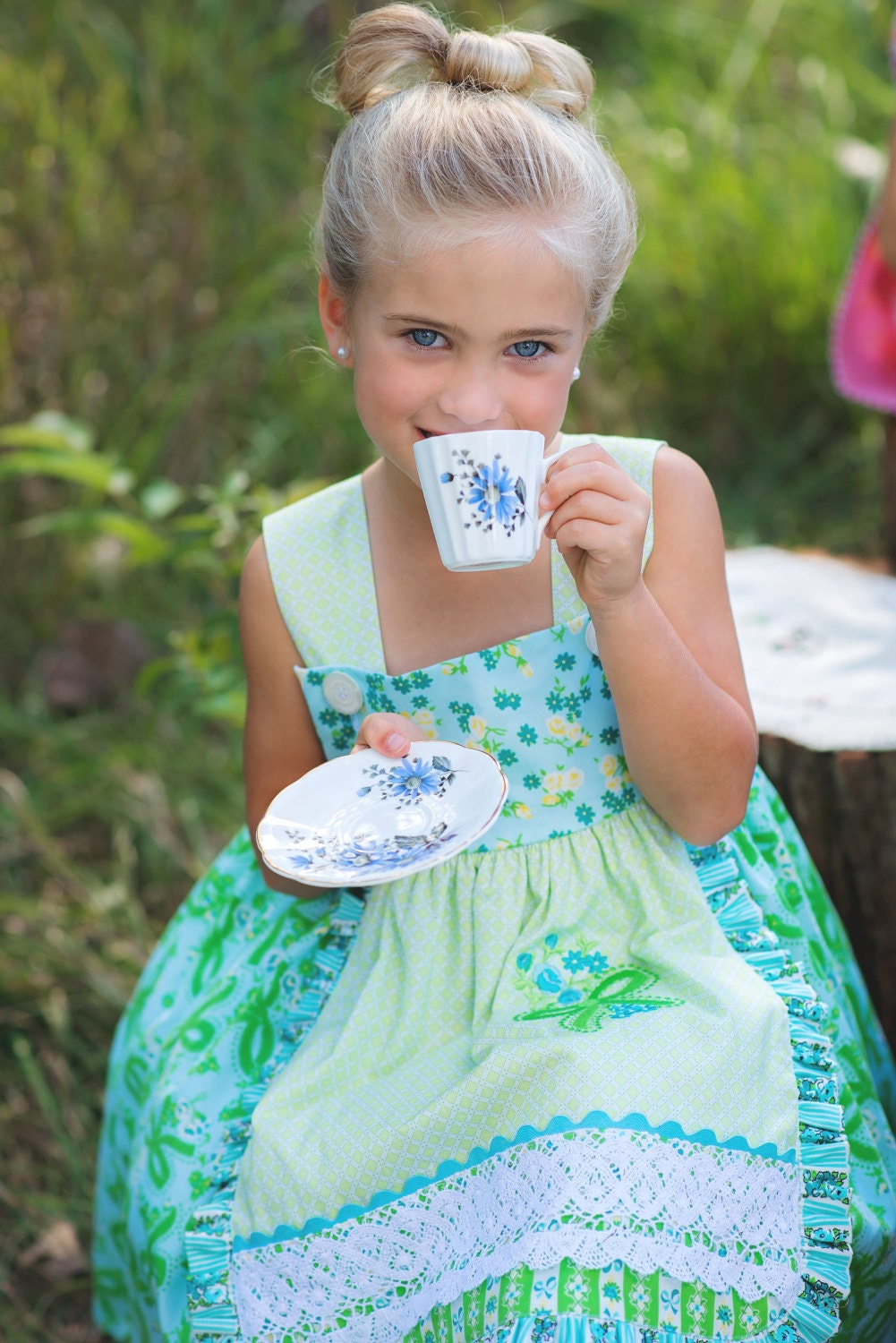 PDF Girls Dress Pattern: Girls Charlotte Apron Dress - Size 6 Month through 8 Years