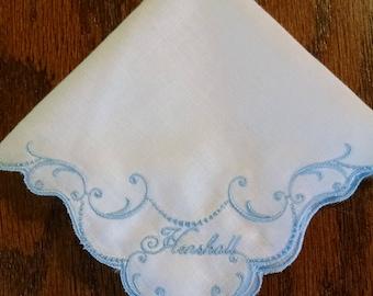 Wedding Bells Embroidered Handkerchief