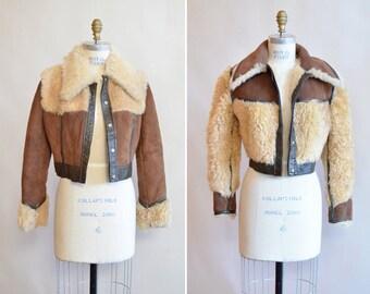 Vintage 1970s SHEEPSKIN fur reversable coat