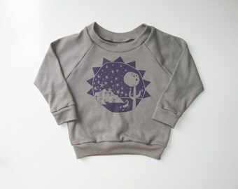 Southwest Explorer Organic Long Sleeve Raglan | Hand Made | Long Sleeve | Unisex Kid | Baby Sweater | Gender Neutral | Hipster Babies