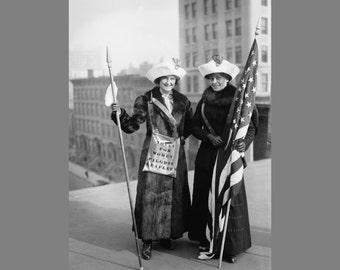 Digital Download Vintage Photo of Suffragettes ~ Antique photo of women in New York City ~ Digital download of women suffragettes