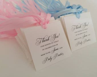 Great Baby Shower Gift Tag For Guest Favors Personalized Thank You Tags, Party Favor  Tags,