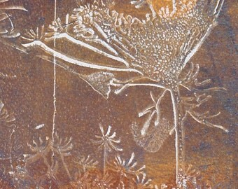 ACEO original - monoprint nature