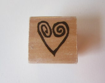 rubber stamp - HEART stamp - Rubber Stampede A1929B
