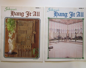 2 vintage books - macrame Juliano's HANG IT ALL book 2 and 4 - circa 1970s
