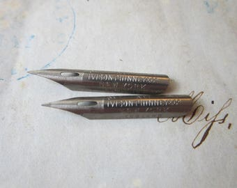 2 vintage pen nibs - SPENCERIAN No. 1 - Ivison Phinney & Co New York England - new old stock, NOS, pen nibs, calligraphy supplies