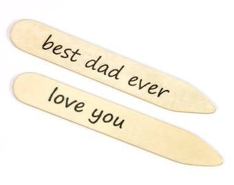 Personalized Collar Stays | Holly Wooden Collar Stays | 5th Anniversary, Groomsmen, Best Man, Groom, Fathers of Bride & Groom, Fathers Day