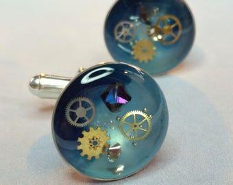 Celestial Silver Universe Cufflinks