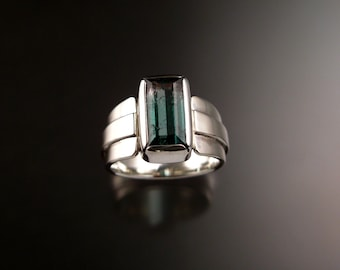Watermelon Tourmaline Ring Sterling Silver Size 6