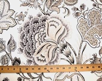 Seraphina Meadowlark Taupe Grey Fabric