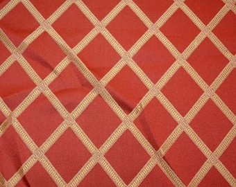 Red Diamond Fabric REMNANT 57 inches x 2.875 yards