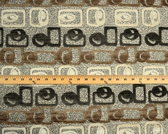 Contemporay Chenille Upholstery Fabric Square & Circle Design
