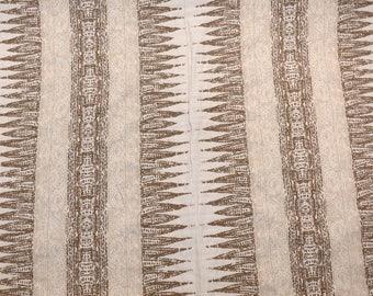 Tan Brown Geometric Fabric