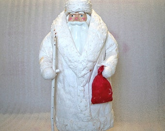 Russian Ded Moroz Christmas Doll - Santa Figurine - 1970s - from Russia / Soviet Union / USSR