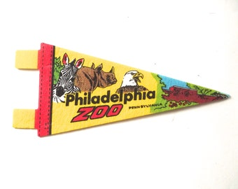 Philadelphia Zoo Vintage Mini Souvenir Pennant from Philadelphia, PA