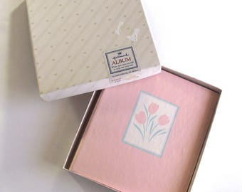 Pink Tulips Address Book, Unused NOS Hallmark Cards Book in Box (A4)