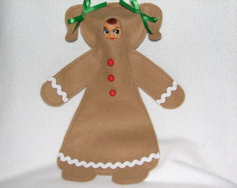 Elf Costume - Gingerbread Girl or Gingerbread Boy - RTG