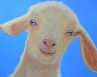 Baby Goat Magnet - White Goat Magnet - Proceeds Benefit Animal Charity