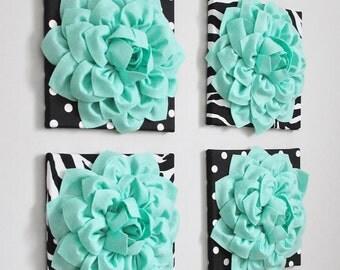 Mint Green Wall Art, Lilac and Mint Moroccan Art, Art Set of FOUR, Seafoam Green, Pastel Abstract Art, Printable Art Nursery Animal Print
