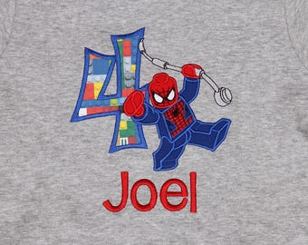Spiderman Lego Birthday Shirt