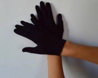 Vintage Black Gloves, Paris Glove, 1950s Gloves, Formal Gloves, Evening, Prom, Grad, Ladies Black Gloves