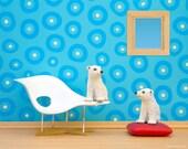Eames mid century modern baby animals nursery decor art print: Just Chillin'