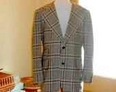 Mens 3 Piece Suit Mens Suit Wool Suit Plaid Suit 70s Suit Vintage Suit Cricketeer Mens Vintage Clothing