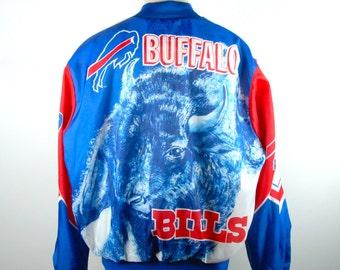 1980's Buffalo Bills Satin Jacket by Chalk Line - AWESOME!!!