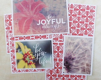 Joyful- Premade Scrapbook Page Sewn Photo Mat Set