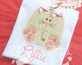 Floppy Bunny Applique Machine Embroidery Design Easter INSTANT DOWNLOAD Vintage