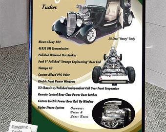 Car Show Board/Sign & Tripod Your Car