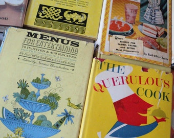 Fun Lot 12 Kitschy Cookbooks from the 1950s, 1960s Great Cover Art