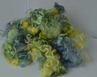 Teeswater Locks - Blue, Yellow, Green- 2 ounces Hand Painted