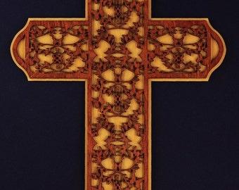 Large Wood Butterfly Cross