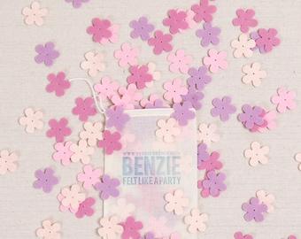Blossoms // Felt-Fetti by Benzie // Flower Die Cuts, Spring Petals, Flower Garland, Felt Flower Confetti, Spring Garland, DIY Crafting