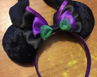 Maleficent inspired Mickey/Minnie Disney ears