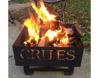 Fire Pit Customized with Family Name and Members Names