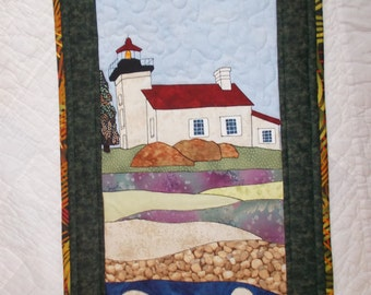 Lighthouse Quilted Wall Hanging/mini quilt