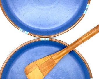"Vintage Dansk Mesa Blue Dinnerware, Dinner Plates, Set of Two,  10"" Plates"
