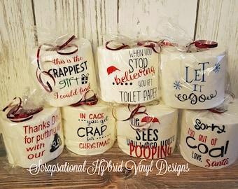 Christmas Toilet Paper, Gag gift, Gift Card Holder, Decoration for your bathroom