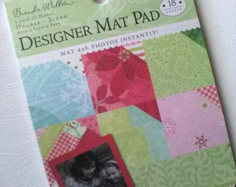 Destash- Peppermint Twist Designer Mat Pad 13 Double-Sided Sheets 6 Assorted Prints by K&Company and Brenda Walton