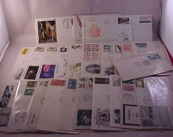 24 First Day Issue US Postage Stamps 1960s