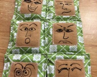 Feeling Face Bean Bags [8 to a set]