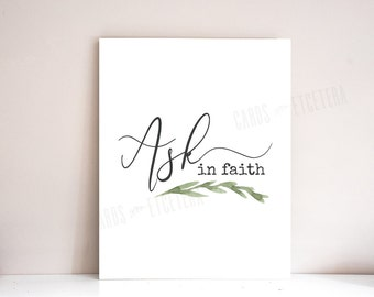Young Women's Theme, 2017 Young Womens Theme, LDS, 2017 Mutual Theme: PRINTABLE (Ask of God, Ask in Faith)