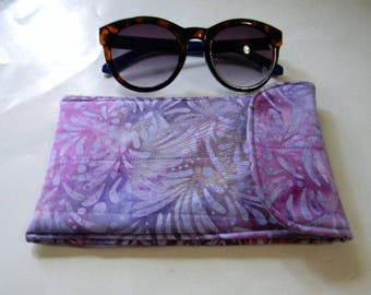 Lavender Batik Sunglasses Case