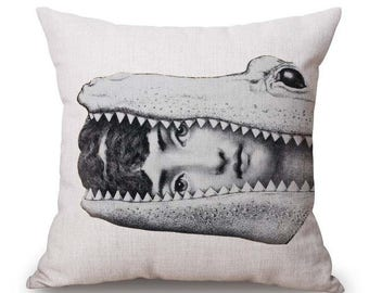 Pillow vintage style face