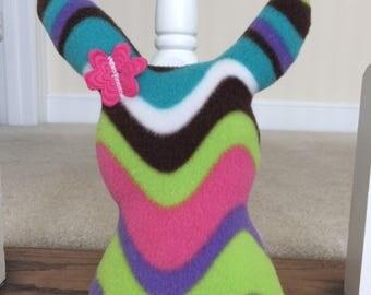 Fleece Bunny-Stuffed Bunny-Bunny for Baby-Bunny Silhouette-Stuffed Rabbit-Easter Gift-Ready to Ship