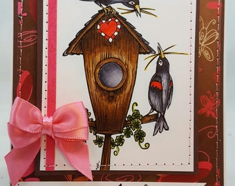 Congrats on New Home/Nest - Creations By Wendalyn, Spring, Birthday, Sewn, Home, Nest, Congratulations, Housewarming