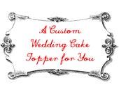 Custom Fox and Owl Wedding Cake Topper